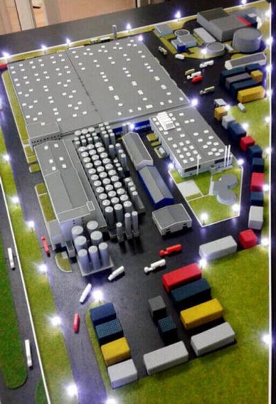 Machetă Fabrica Bergenbier