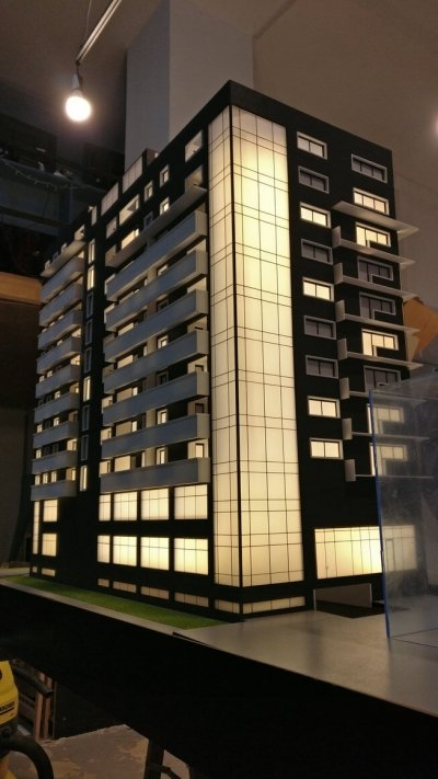 macheta arhitectura bloc locuinte