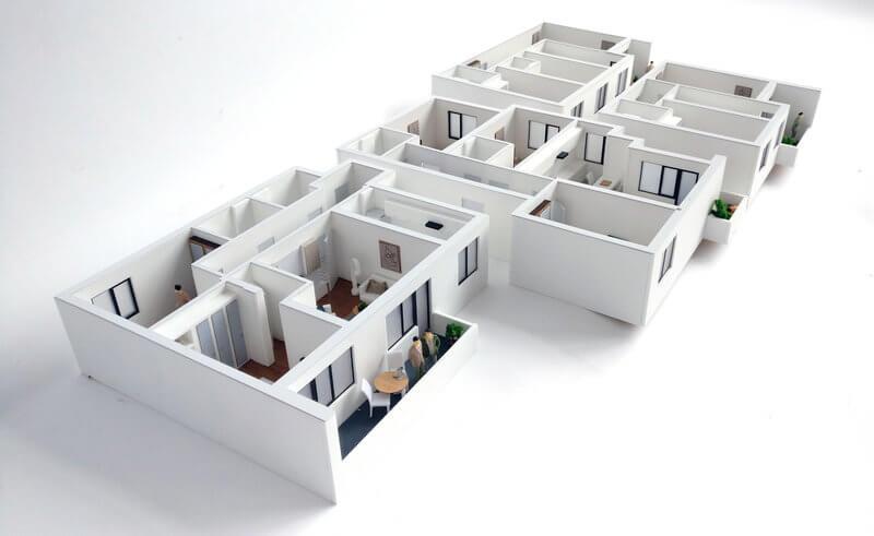 macheta interior apartament