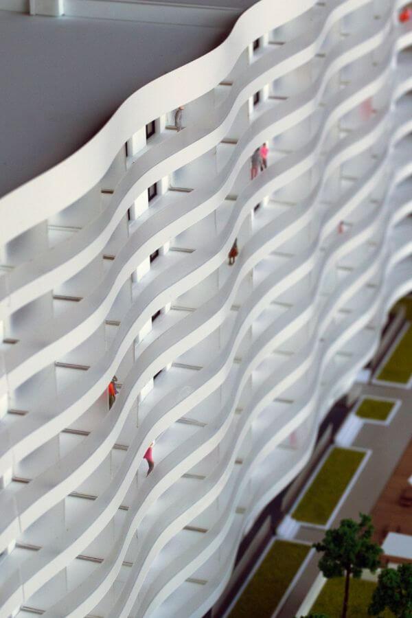 macheta arhitectura bloc