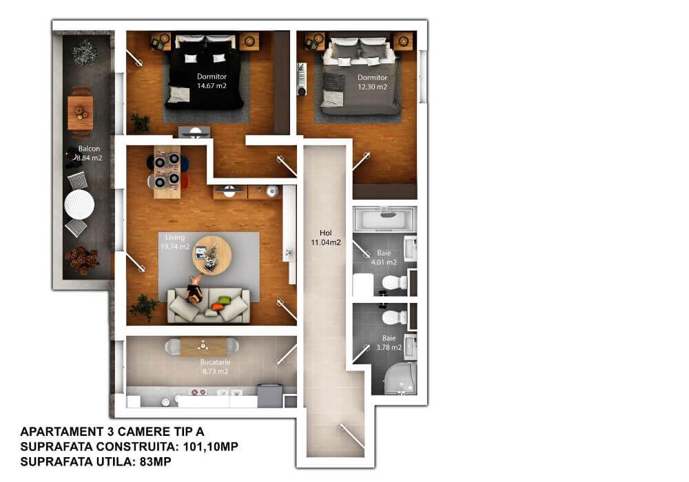 randare apartament