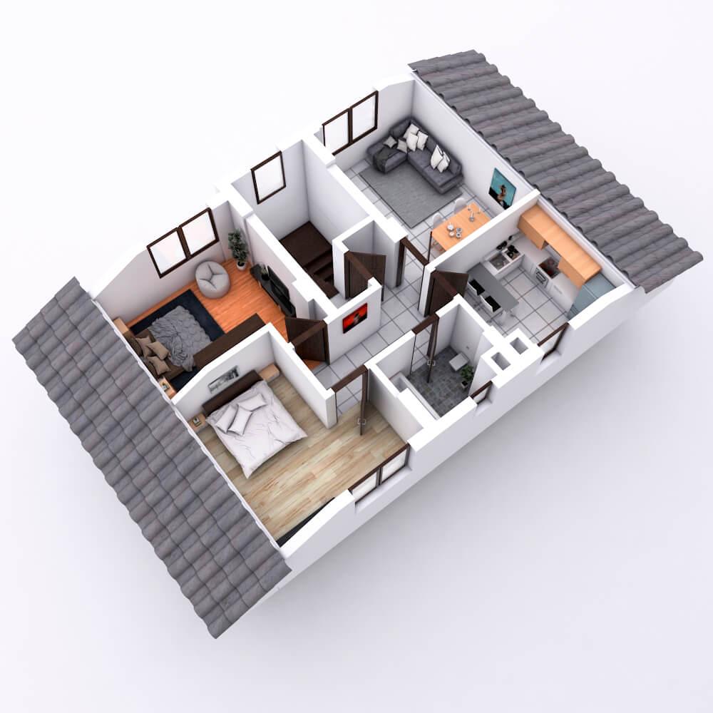 randare casa 3d