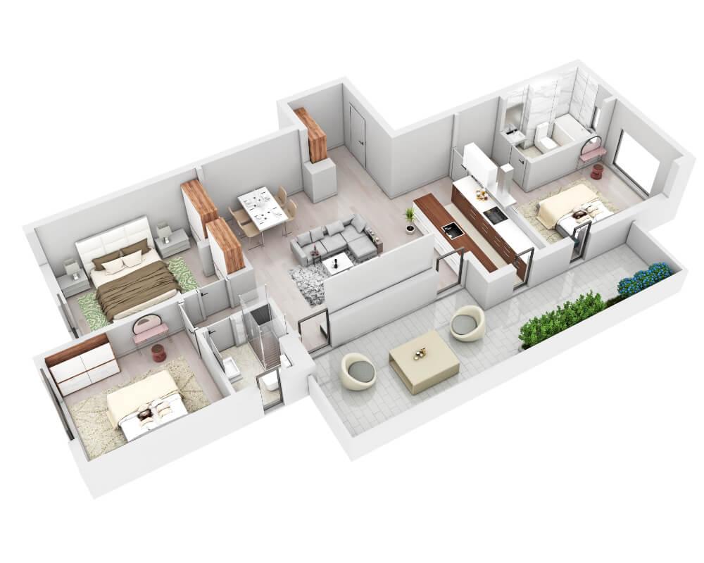 randare apartament nou